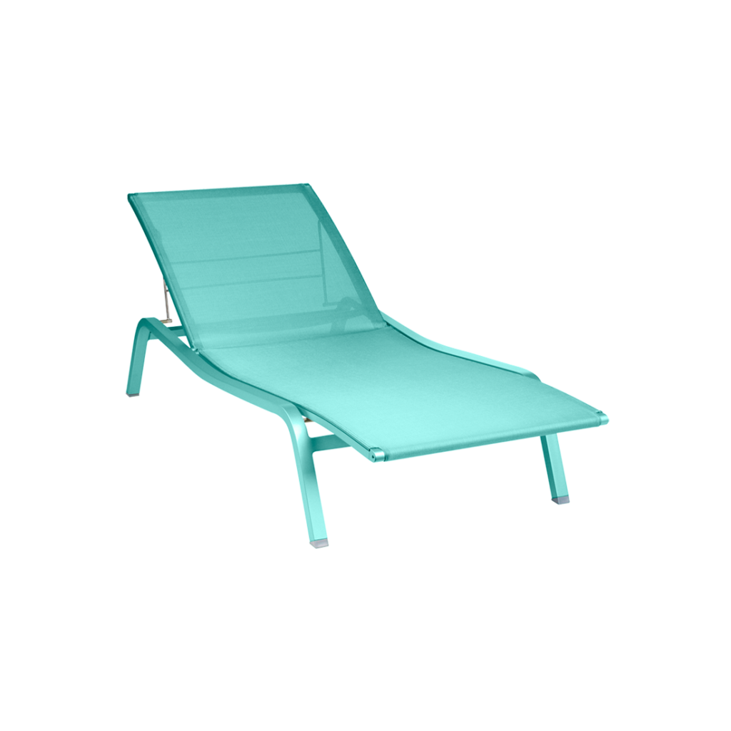Fermob Alize Sunlounger Lagoon Blue