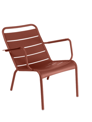 Luxembourg Low Armchair Red Ochre