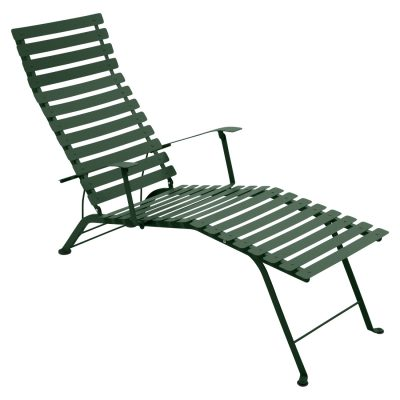 Bistro Metal Chaise Lounge - Cedar Green