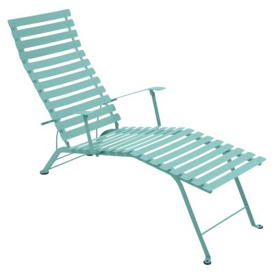 Bistro Metal Chaise Lounge - Lagoon Blue