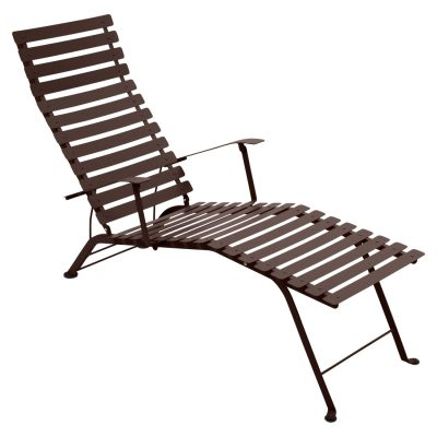 Bistro Metal Chaise Lounge - Russet