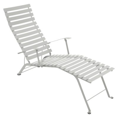 Bistro Metal Chaise Lounge - Steel Grey