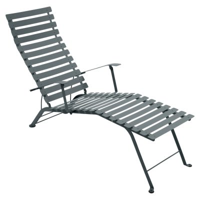 Bistro Metal Chaise Lounge - Storm Grey