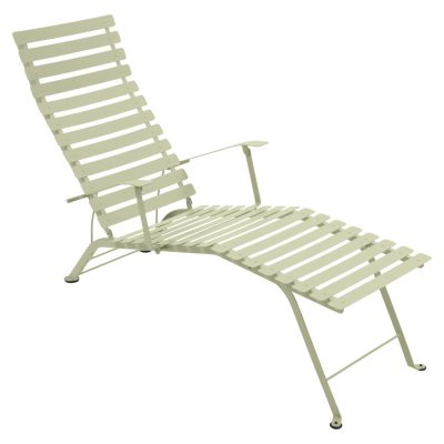 Bistro Metal Chaise Lounge - Willow Green