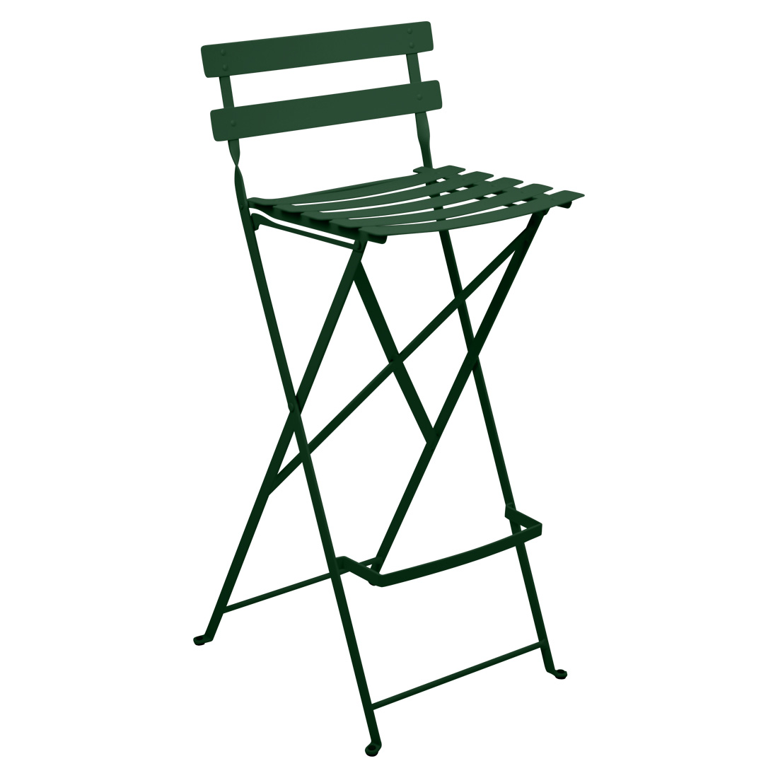 Bistro Metal High Chair - Cedar Green