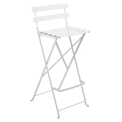Bistro Metal High Chair - Cotton White