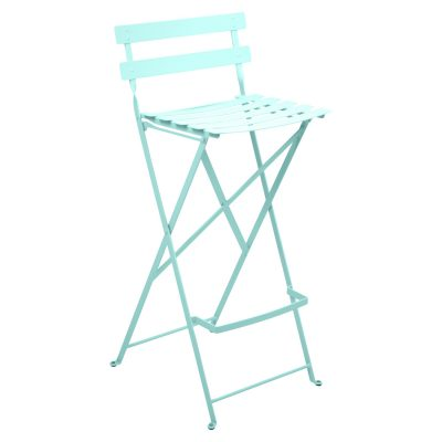 Bistro Metal High Chair - Lagoon Blue