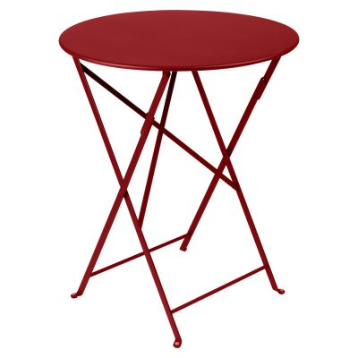 Bistro Round Table 60cm - Chili