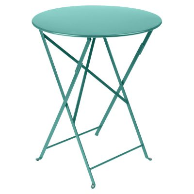 Bistro Round Table 60cm - Lagoon Blue