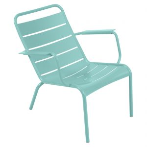 Luxembourg Low Armchair - Lagoon Blue