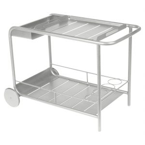 uxembourg Side Bar Trolley Steel Grey