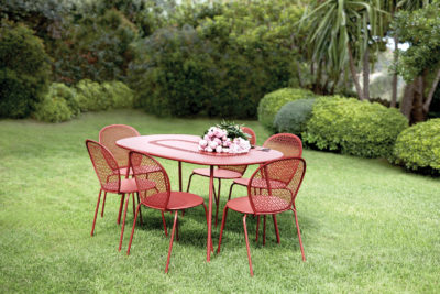 Fermob Lorette Oval Table Red Ochre