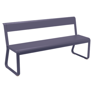 Fermob Bellevie Bench With Backrest Plum