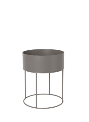 Ferm Round Plant Box Warm Grey