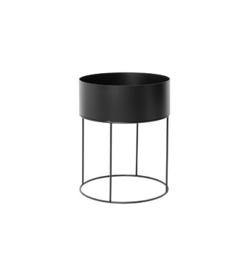 Ferm Round Plant Box Black