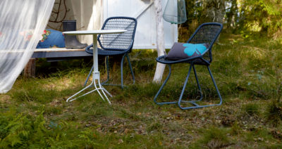 Fermob Flower Table and Sixties Chair