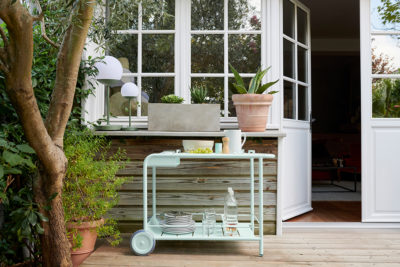 Fermob Luxembourg Bar Trolley Ice Mint