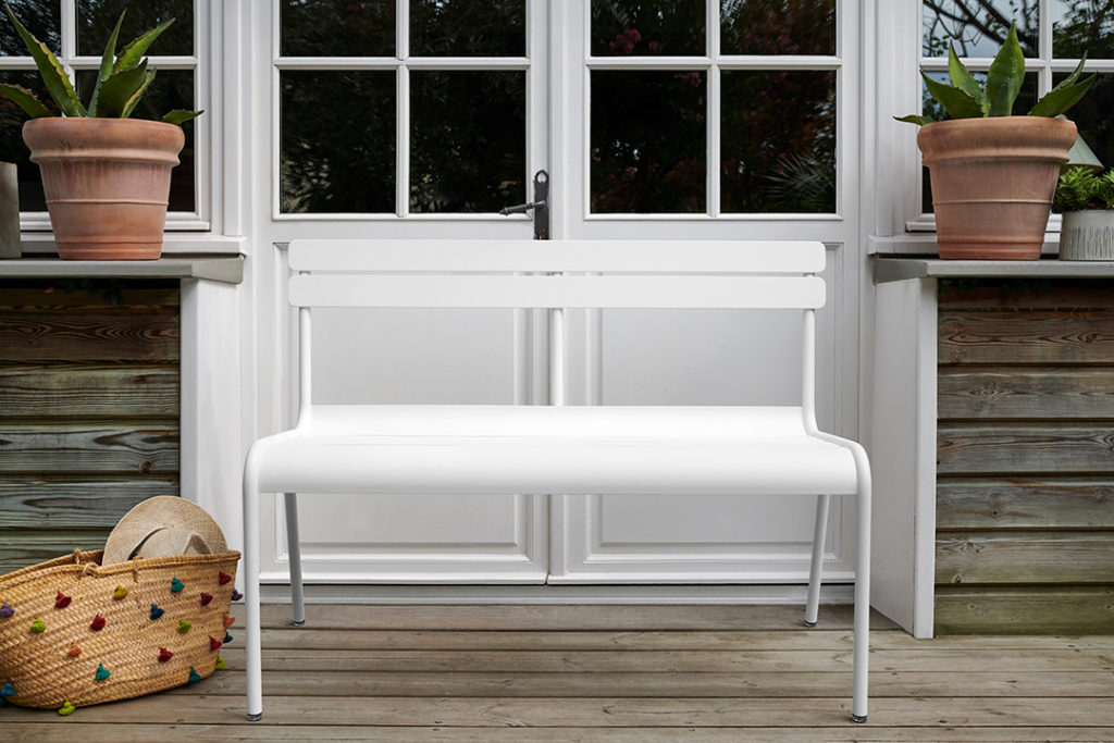 Fermob Luxembourg Bench Cotton White