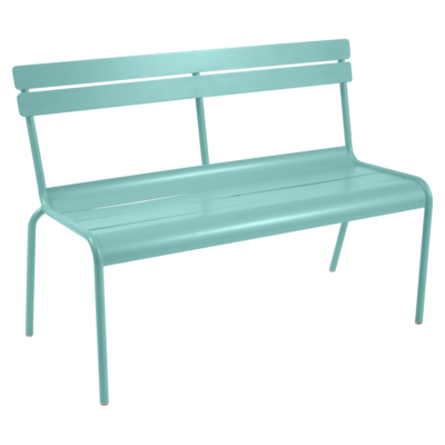 Fermob Luxembourg Bench with Backrest Lagoon Blue