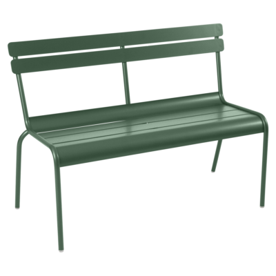 Fermob Luxembourg Bench with Backrest Cedar Green