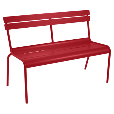 Fermob Luxembourg Bench with Backrest Poppy