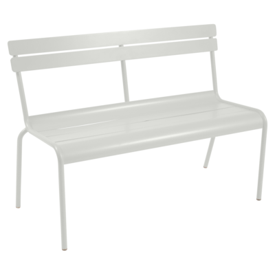 Fermob Luxembourg Bench with Backrest Steel Grey