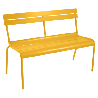 Fermob Luxembourg Bench with Backrest Honey
