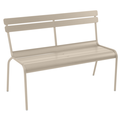 Fermob Luxembourg Bench with Backrest Nutmeg