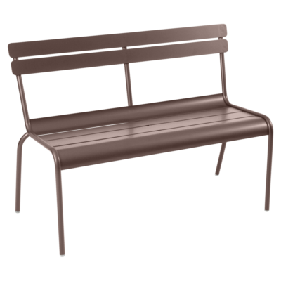 Fermob Luxembourg Bench with Backrest Russet