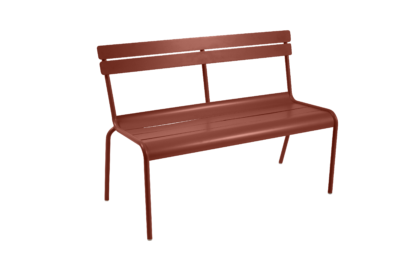 Fermob Luxembourg Bench with Backrest Red Ochre