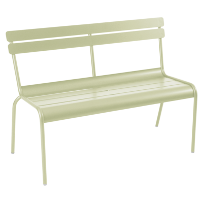Fermob Luxembourg Bench with Backrest Willow Green
